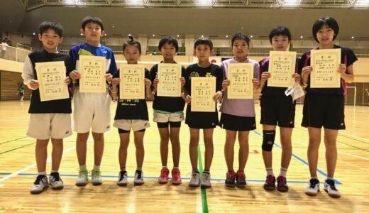 全小2019 東京予選 ダブルス