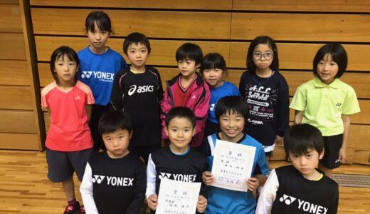 東京都シングルス大会1~4年生